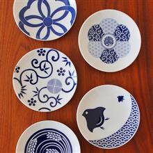東京食器 KIHARA 經典圖紋豆皿 (五件組)