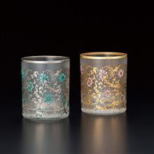 東京食器 EL DORADO 金銀藤蔓花紋對杯禮盒