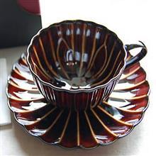 東京食器<br />DIAMANT陶咖啡杯組-棕