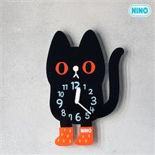 【新品上市特惠中!】韓國館 NINO HapPy TimE 童趣時鐘 小黑貓吉吉