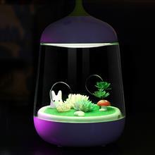 創意設計小物館 LED植物小夜燈 兔子