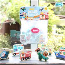 韓國館 NINO 立體拼圖洗澡玩具 交通大隊