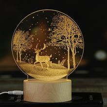 創意設計小物館 內雕立體氛圍燈-按鈕開關 鹿