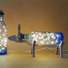 創意設計小物館 麋鹿手工吹製玻璃夜燈 海天藍