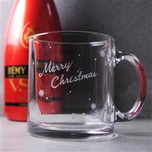 MSA【手工雕刻-聖誕節款】美國進口耐熱玻璃馬克杯玻璃雕刻-雪季Xmas