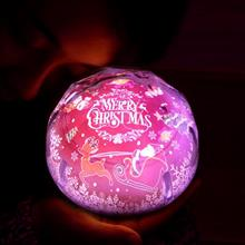 創意設計小物館 浪漫星空LED旋轉投影燈 聖誕款