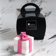 Gs Life 單入蛋糕香皂禮盒 粉紅緞帶