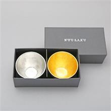 日本 能作 NOUSAKU 純錫酒杯+純錫金箔酒杯組