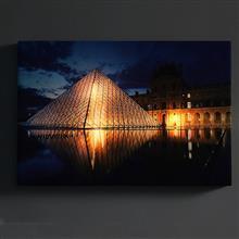 創意設計小物館 夜燈遙控裝飾畫 羅浮宮