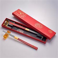 LIULI LIVING 箸福 (二雙含筷架) (單色-紅色)
