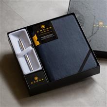 CROSS Classic Century 亮鉻鋼珠筆+午夜藍記事本禮盒